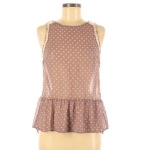 LUSH Lace/mauve dressy tank✨pricedrop✨